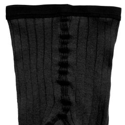 Dore Dore - Luxury Black Cotton Ribbed Tights | Childrensalon