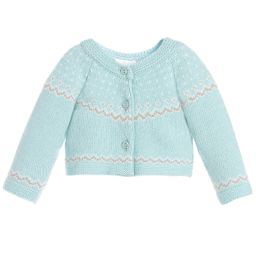 Dr. Kid - Green Knitted Baby Cardigan | Childrensalon