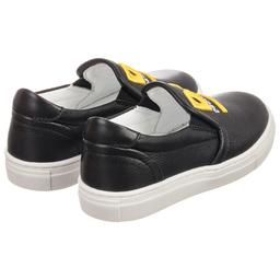 DSquared2 - Black Leather Slip-On Shoes   Childrensalon