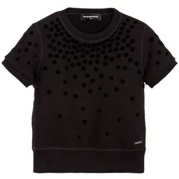DSquared2 - Girls Velvet Spot Sweatshirt | Childrensalon
