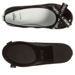 Fendi - Girls Black Patent Shoes | Childrensalon