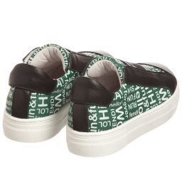 Fendi - Green & Black Trainers | Childrensalon