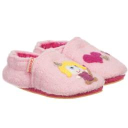 Giesswein - Pink Wool 'Princess' Pre-Walker Slippers | Childrensalon