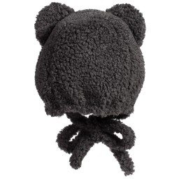 Grevi - Grey Synthetic Sheepskin Hat | Childrensalon