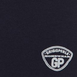 Grigio Perla - Boys Navy Blue Cotton T-Shirt | Childrensalon