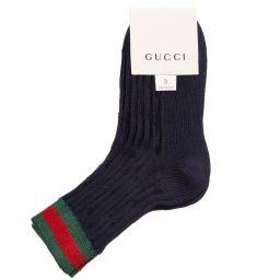Gucci - Boys Blue Cotton Socks | Childrensalon