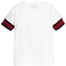 Gucci - Boys White Cotton T-Shirt | Childrensalon