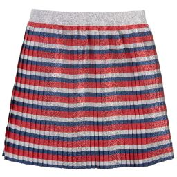 Gucci - Girls Silver Lurex Skirt | Childrensalon