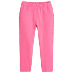 Il Gufo - Girls Pink Jersey Trousers | Childrensalon