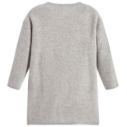 Il Gufo - Grey Wool Pom-Pom Dress | Childrensalon