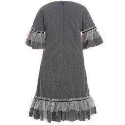 La Stupenderia - Girls Glitter Tulle Dress  | Childrensalon
