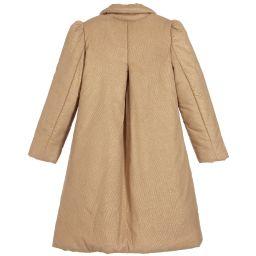 La Stupenderia - Girls Gold Padded Coat | Childrensalon