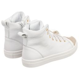 Lanvin - Leather High-Top Trainers | Childrensalon