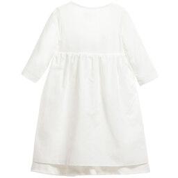 Laranjinha - Ivory Bamboo Viscose Baby Gown | Childrensalon