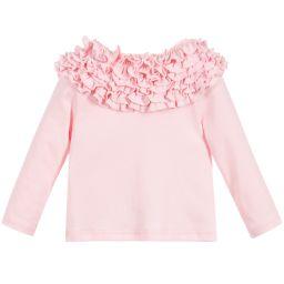 Lemon Loves Layette - Girls Pale Pink 'Coco Tee' Top | Childrensalon