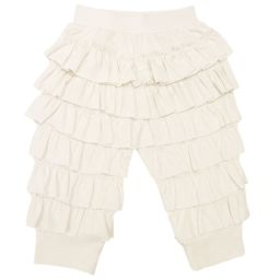 Lemon Loves Layette - Ivory Pima Cotton 'Ella' Trousers | Childrensalon