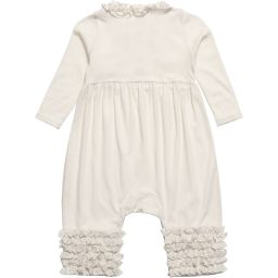 Lemon Loves Layette - Ivory Pima Cotton Romper  | Childrensalon