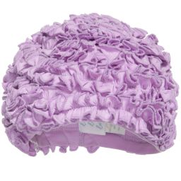 Lemon Loves Layette - Lilac Pima Cotton 'Isabel' Baby Hat | Childrensalon