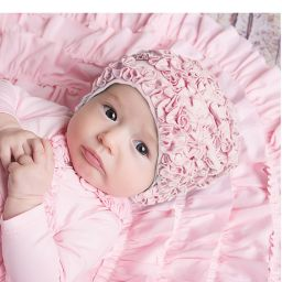 Lemon Loves Layette - Pale Pink Pima Cotton 'Isabel' Hat | Childrensalon