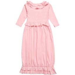 Lemon Loves Layette - Pale Pink Pima Cotton 'Jenna' Day Gown | Childrensalon