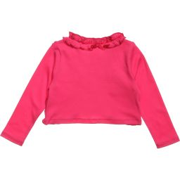 Lemon Loves Layette - Pink Pima Cotton 'Emma' Cardigan | Childrensalon