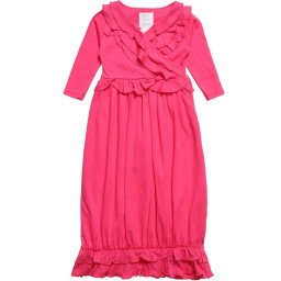 Lemon Loves Layette - Pink Pima Cotton 'Jenna' Day Gown | Childrensalon