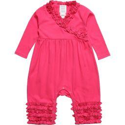 Lemon Loves Layette - Pink Pima Cotton Romper | Childrensalon