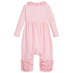 Lemon Loves Layette - Pink Pima Cotton Romper   Childrensalon