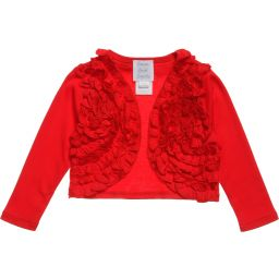 Lemon Loves Layette - Red Pima Cotton 'Emma' Cardigan | Childrensalon