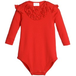 Lemon Loves Layette - Red Pima Cotton 'Madison' Bodysuit | Childrensalon