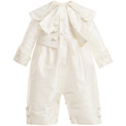 Little Darlings Occasion - Boys Ivory Silk 'Montgomery' Babysuit | Childrensalon