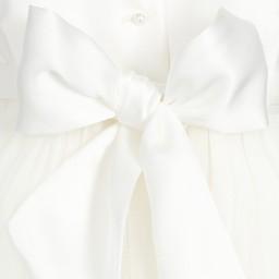 Little Darlings Occasion - Ivory Silk Ceremony 'Valentina' Gown | Childrensalon
