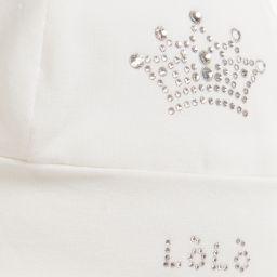 Loredana LòLò - Ivory Hat with Diamanté Crown | Childrensalon