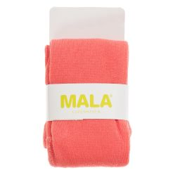 Mala - Girls Coral Pink Cotton Tights | Childrensalon