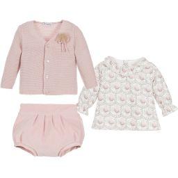 Mebi - Baby Girls 3 Piece Outfit    Childrensalon