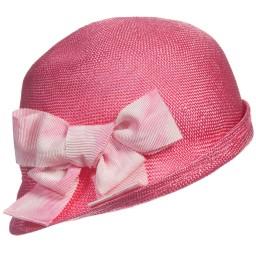Mi Mi Sol - Girls Fuchsia Pink Woven Sun Hat | Childrensalon