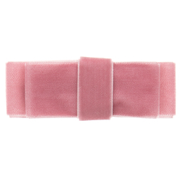 Milledeux - Girls Dusky Pink Velvet Bow Hairclip (7.5cm) | Childrensalon
