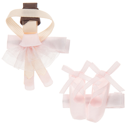 Milledeux - Pink Ballet Hairclips (2 Pack) | Childrensalon