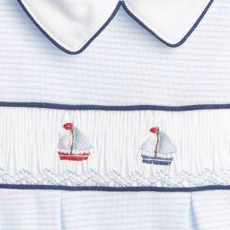 Mini-La-Mode - Boats Pima Cotton Babygrow | Childrensalon