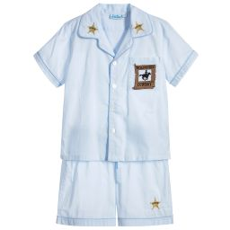Mini Lunn - Cotton Cowboy Shorts Pyjamas | Childrensalon
