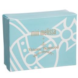 Mini Melissa - Black Vivienne Westwood Jelly Shoe & Pink Bow | Childrensalon