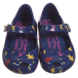 Mini Melissa - Girls Navy Blue Vivienne Westwood Jelly Shoes | Childrensalon