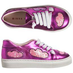 Minna Parikka Mini - 'Drizzle Pink' Metallic Trainers | Childrensalon