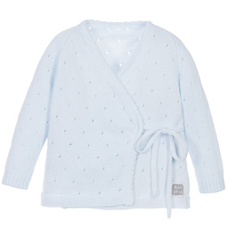 Minutus - Blue Knitted Baby Cardigan | Childrensalon