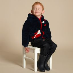 Mitty James - Blue & Red Reversible Zip-Up Top | Childrensalon