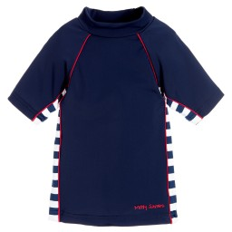 Mitty James - Navy Blue Sun Protective Top (UPF 50+) | Childrensalon