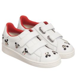 MOA Master of Arts - White Disney Leather Trainers | Childrensalon