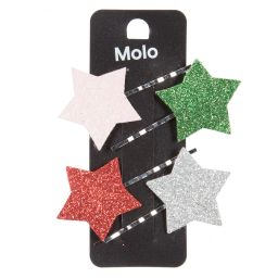 Molo - Girls 'Star' Hair Grips (4 Pack) | Childrensalon