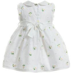 Monnalisa Chic - Organza Daisy Embroidered Dress   Childrensalon