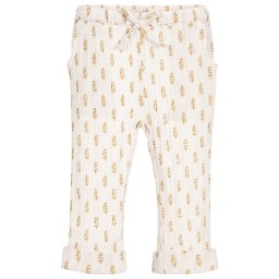 Moon et Miel - Baby Girls Pink & Gold Trousers | Childrensalon